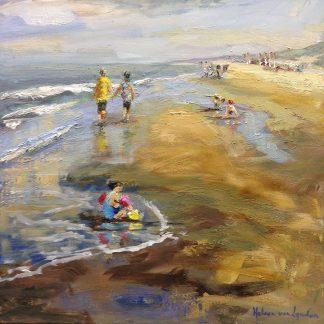 summer in Katwijk-seascape-zeegezicht-strand en zee- van Lynden