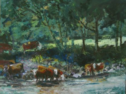 2013-LS025-Cows-in-Tauernriver-40x50