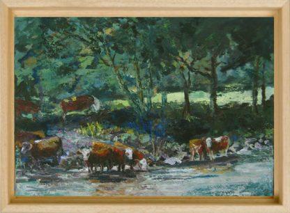 Landscapes-paintings van Lynden-Cows-in-Tauern-baklijst-blank