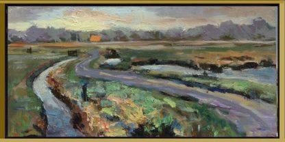 LS039-landscapes paintings-van Lynden--Naardermeer3