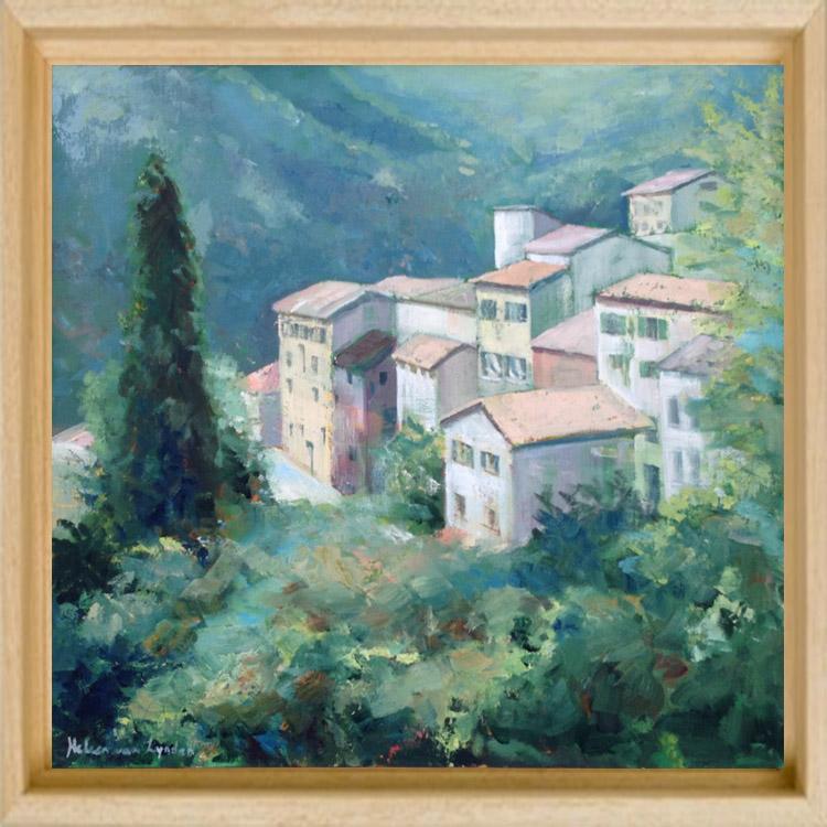 CS008-dorpje Provence-baklijst blank