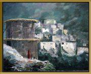 dorpje- Marokko-Atlas-lijst Verona zwart-goud