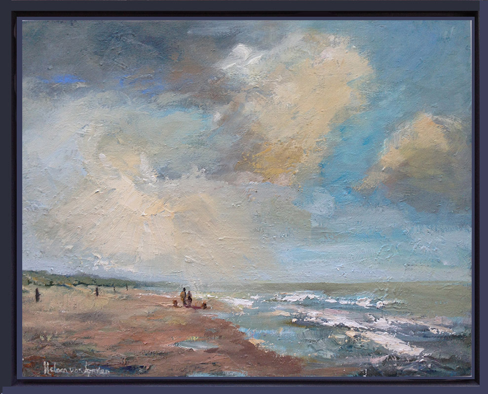 2015-WS009-Evening-at-beach-30x40baklijst-gekleurd