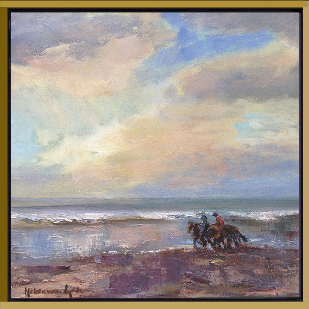 2015-WS013-lynden_Beach13-horseriding-30x30c-baklijst-zw-goud