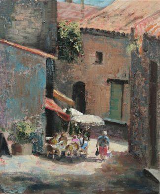 Trigance-dorpje-Provence-dorpsgezicht- dorp Frankrijk schilderij-van Lynden