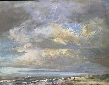 seascapes oil-zeegezicht olieverf, strandgezicht olieverf, Lynden strand