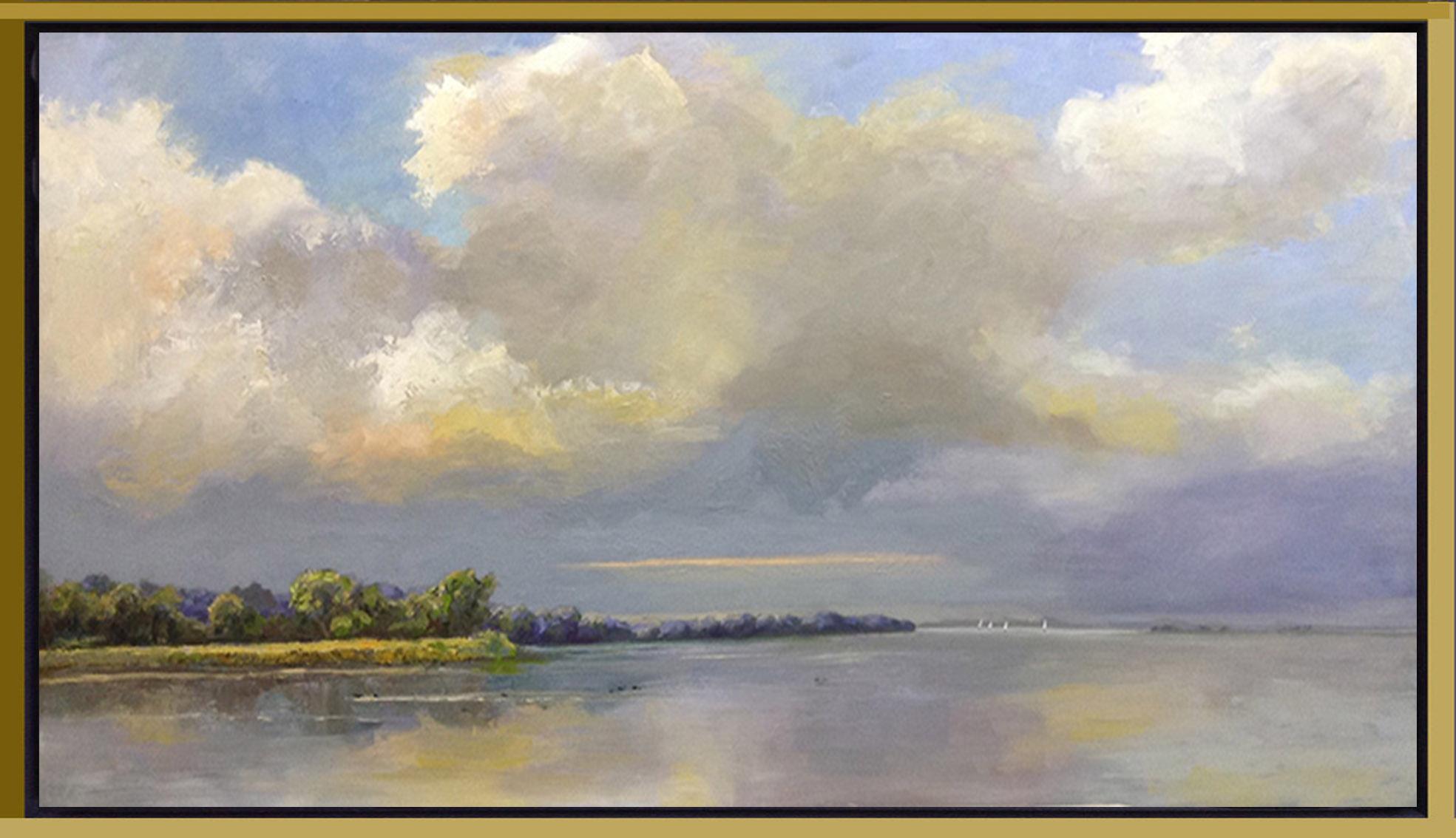 17LS013-IJsselmeer Muiderberg zwart-goud