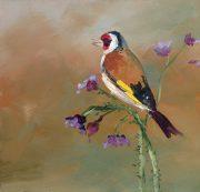 vogels- tuinvogels-puttertje-olieverfschilderij-van Lynden