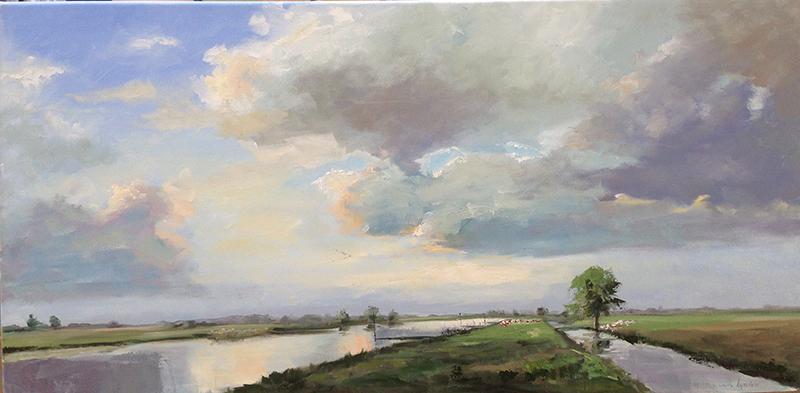 River Lek-riviergezicht-landschap-Lynden