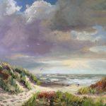driemaster-strandgezicht-zeegezicht-Lynden-olieverfschilderij-Lynden