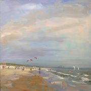 small kites-strand-zeegezicht-Lynden