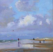 Katwijk low tide-zeegezicht, strandgezicht-Lynden
