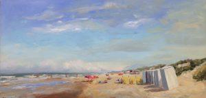 Summer at sea-seascape-beachscape- zeegezicht-strandgezicht-Lynden-olieverf