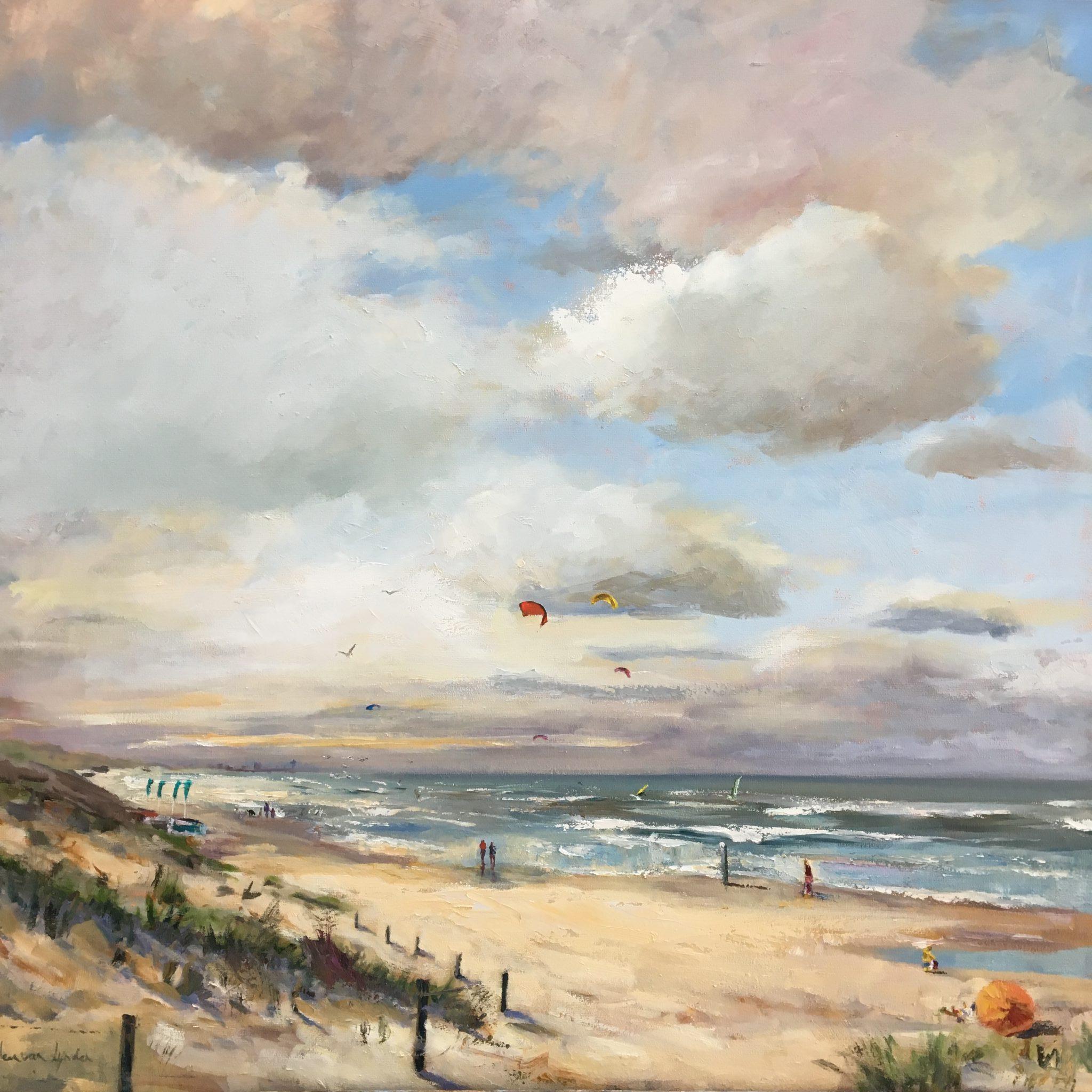 Scheveningen-zeegezicht-olieverf-strandgezicht-Lynden