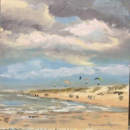 parasailing-seascape- zeegezicht-strand-beach-Heleen van Lynden