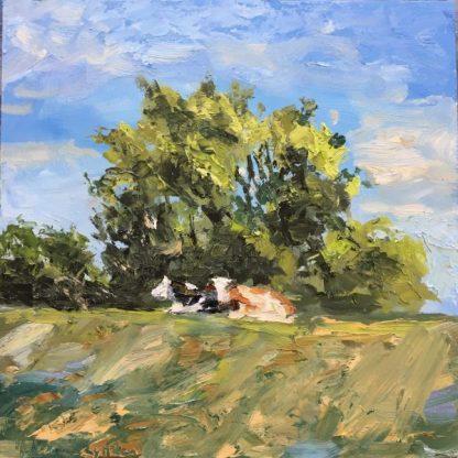 cows Muiden-summer-landscape- dutch landscape- Heleenvanlynden