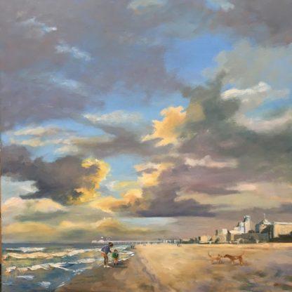 Scheveningen -beach-paintings-oilpainting-seascape-heleenvanlynden