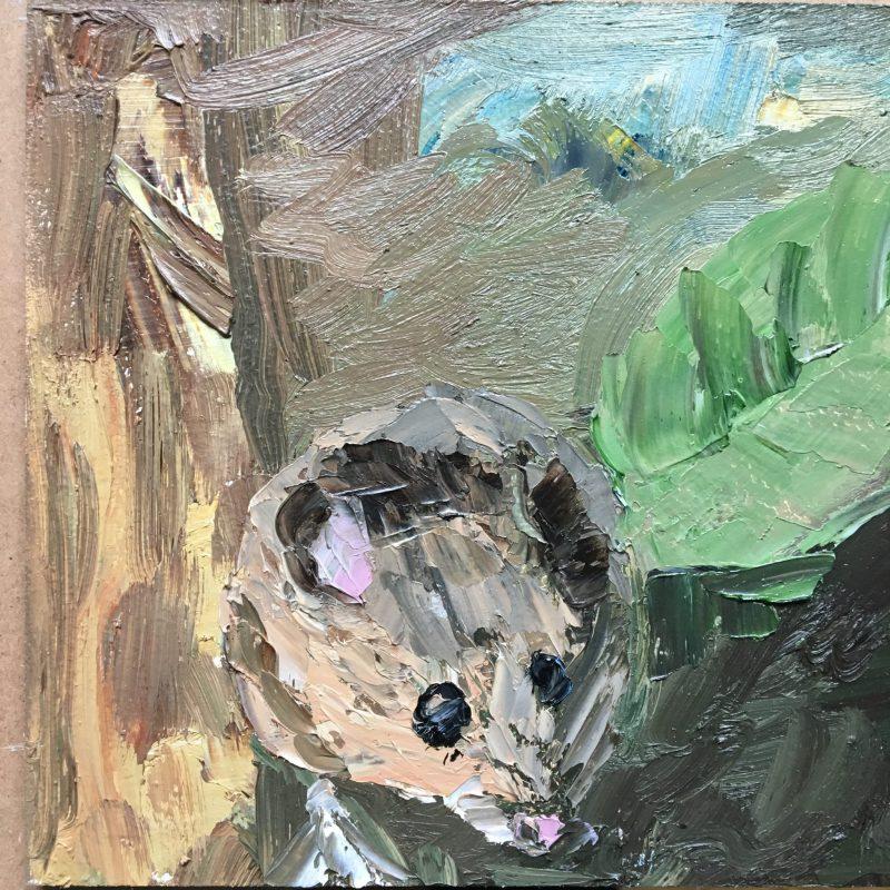 muisje, veldmuis, ongedierte, van Lynden, olieverf