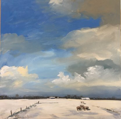 snowlandscape-snow-dutch landscape-winterlandscape-van Lynden-olieverf-oilpaint
