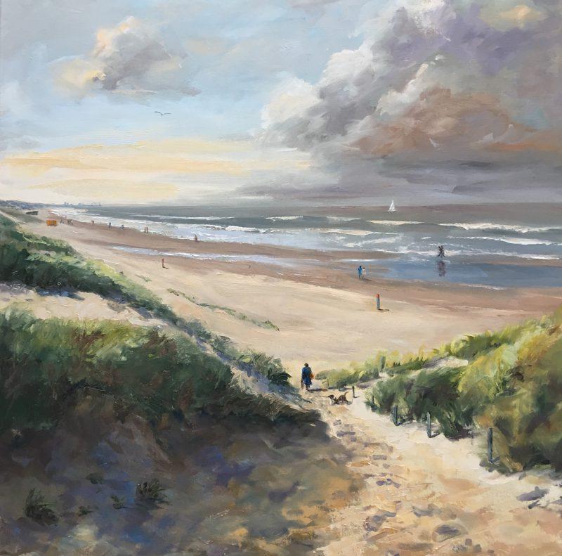 Kijk naar Scheveningen, seaview, beachview, dunes, Holland, zeegezicht, strandgezicht, duingezicht, Heleen van Lynden