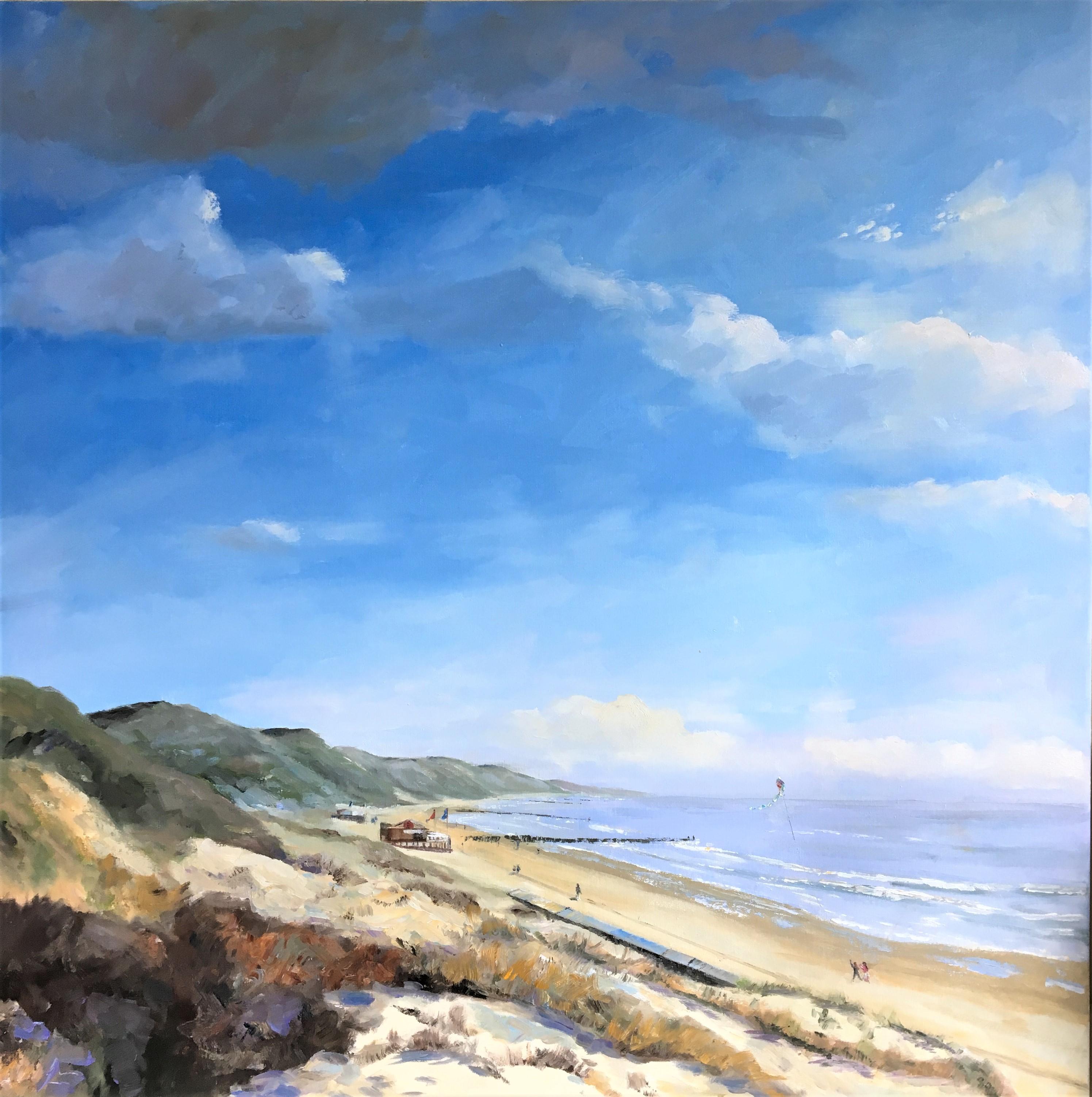 Zoutelande-Zeeland-oilpainting-seascape-dunes-Heleen van Lynden