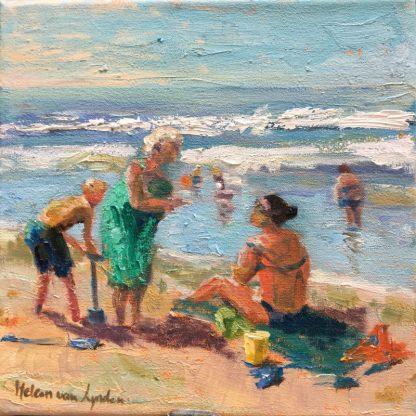 beach-children at beach-summer-strandgezicht-strand- Heleen van Lynden