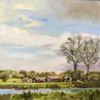 Farm with ditch, dutch landscape, landscape, Muiderberg, Heleen van Lynden