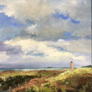 Dishoek duinen Zeeland-Zeegezicht-oilpainting-seascape-van Lynden