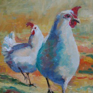 chickens, white chickens, Heleen van Lynden
