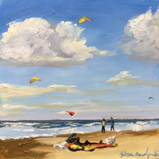 windy beach, kiting, beach, seascape, Heleen van Lynden