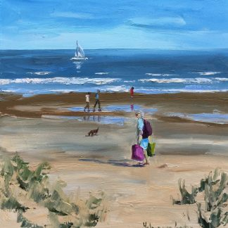 beach, to the beach-oilpaintings, Heleen van Lynden