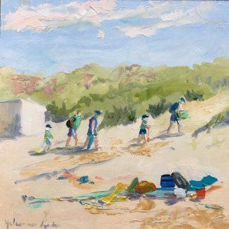 Beach, dunes, heleen van Lynden, oilpainting