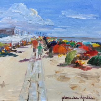 Beach, Dishoek, Seascape, heleen van Lynden, oilpainting