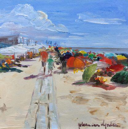 Beach, Dishoek, Seascape, heleen van Lynden, oilpainting