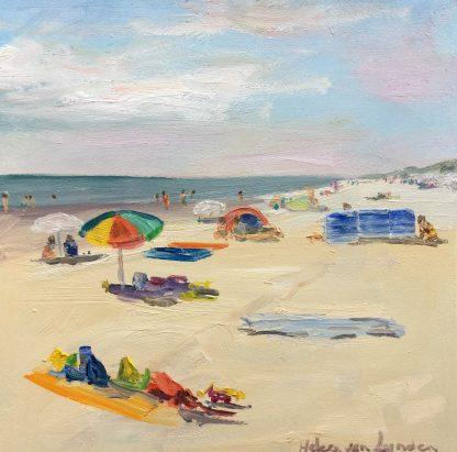 Beach, seascape, oilpainting, heleen van lynden