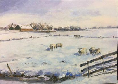 postcard snowlandscape, van Lynden