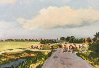 postcard, cows in summer, van Lynden