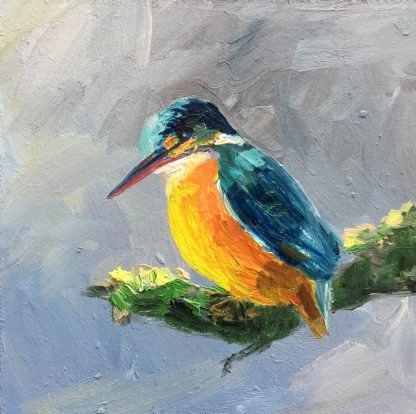 Kingfisher-Oilpainting-birds-Heleen van Lynden
