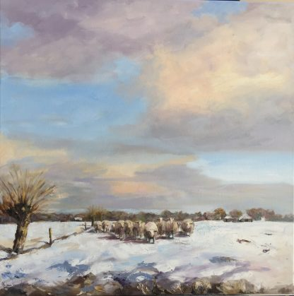 schaapskudde-sheepherd-snowlandscape-sneeuwlandschap-snow-sheep-Heleenvanlynden