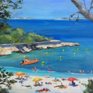 cala Gracio Ibiza- oilpainting-Heleen van Lynden-holiday-destination Ibiza,