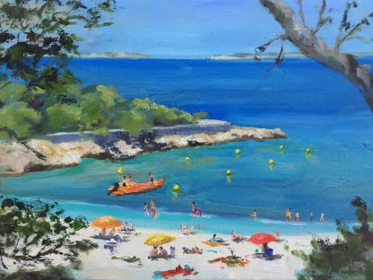 cala Gracio Ibiza- oilpainting-Heleen van Lynden-holiday-destination Ibiza,