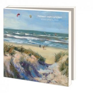 Postcards, kiters and surfers, beachpaintings Heleen van Lynden