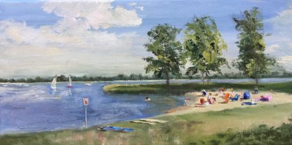 kleine strandje, beach, Muiderberg, summer, Heleen van Lynden