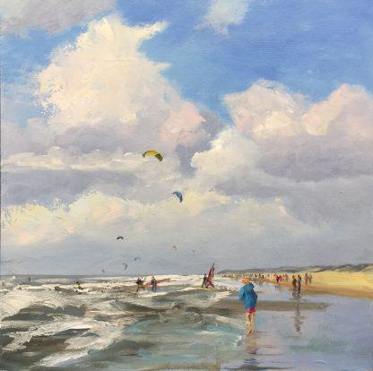the dutch coast, seascape, kiting, beach, Heleen van Lynden