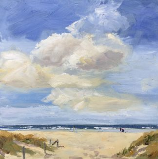 sea, air, sand, dunes, beach, Heleen van Lynden, oilpainting