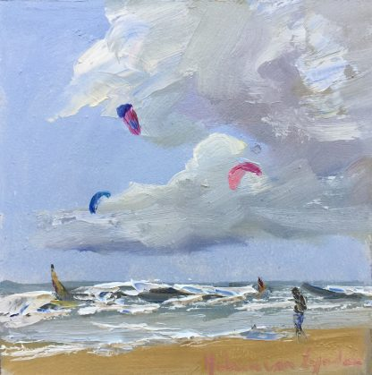 sea, air, sand, dunes, beach, Heleen van Lynden, oilpainting