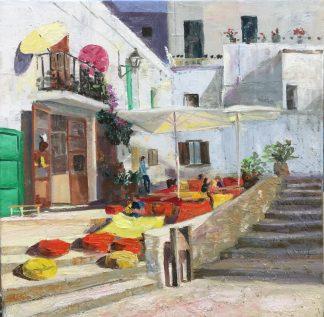 Bar s'escalinata-Ibiza-heleensoilpaintings-Heleen van Lynden-Oilpainting