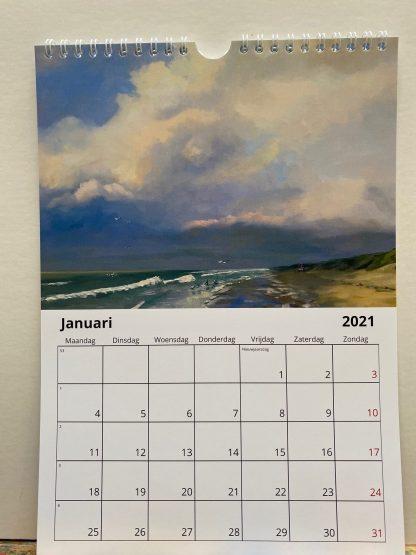 calendar, 2021, kalender, zeegezichten, seascapes, olieverf, schidlerijen, paintings, Heleen van Lynden