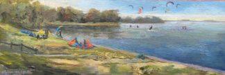 Muiderberg kiters, surfers, kiting, heleen van lynden, oilpaintings