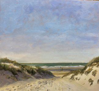 beach dunes, sea, dutch beach, seascape, Helen van Lynden